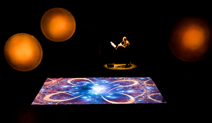 Animation projected onto the floor