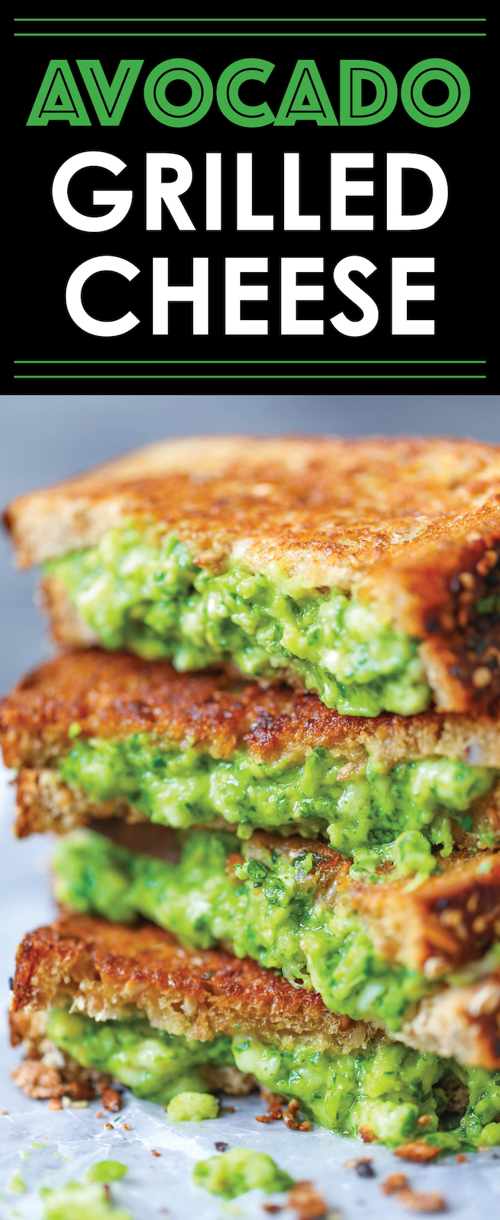 Grilled Cheese with Sourdough Bread, Buttery Avocado & Gruyere Cheese