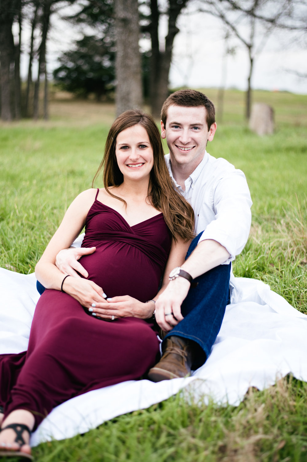 outdoor park maternity session college station