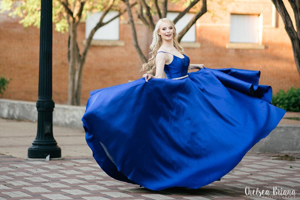twirling-model-in-blue-gown