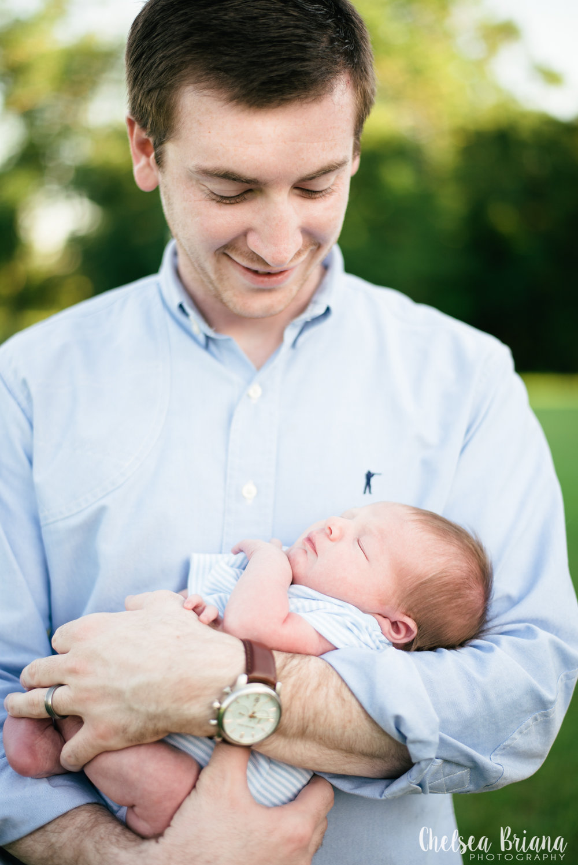 newborn and father