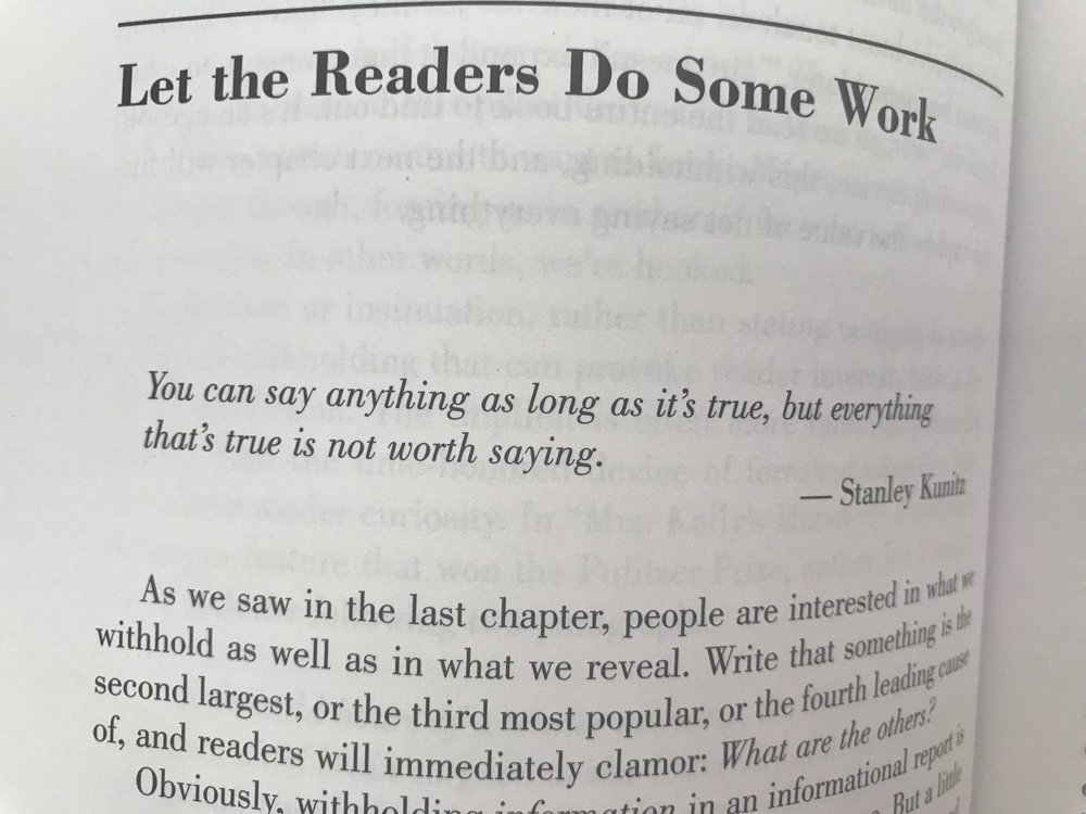 Quotes At The Beginning Of Chapters In The Book On Writing By Paula