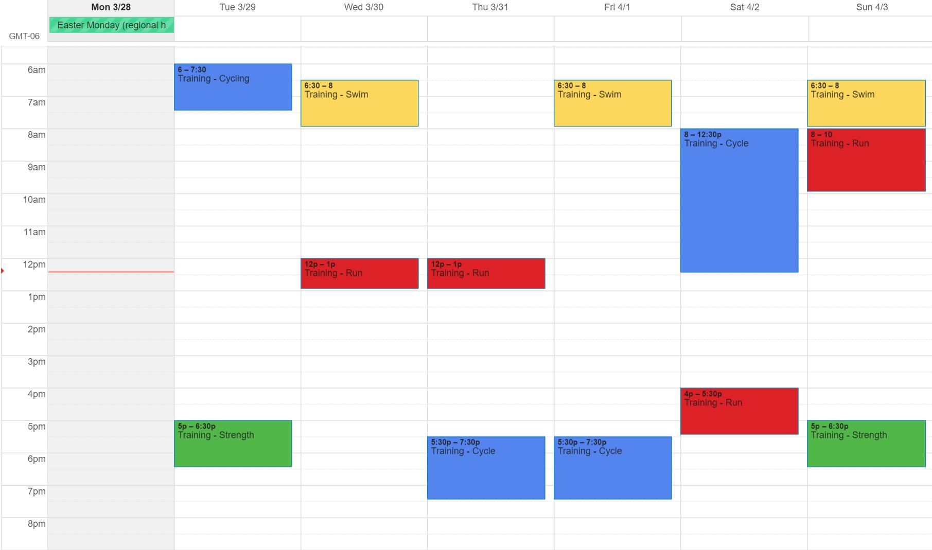 Brandon's Schedule