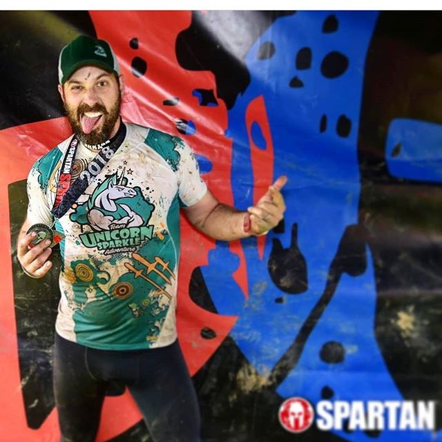 Unicorns can get down with it too #spartanrace #ocr #athletics #sports #fitness #mud #gutsandglory #teamunicornsparkleadventure @captain_canuck