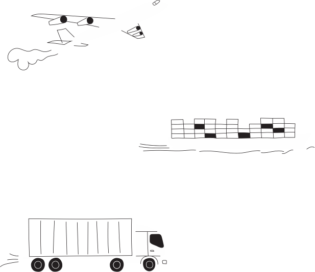 Orbis plane, vessel and truck