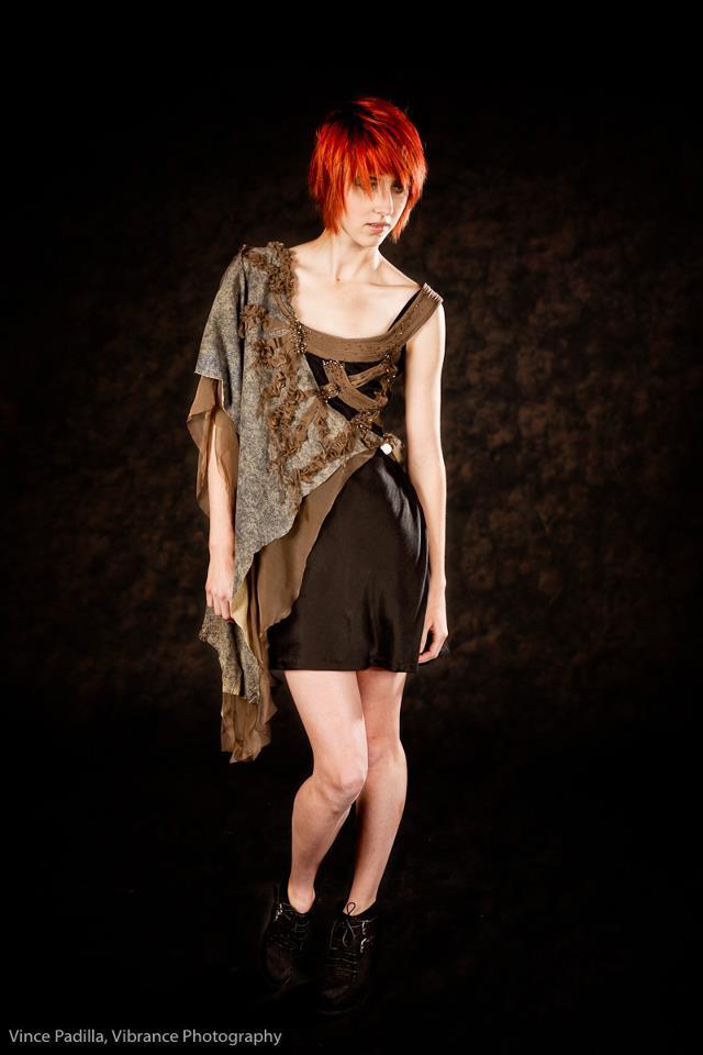 """""""Wild""""    Printed lambskin, silk chiffon, sand washed silk, horn, 2011"""