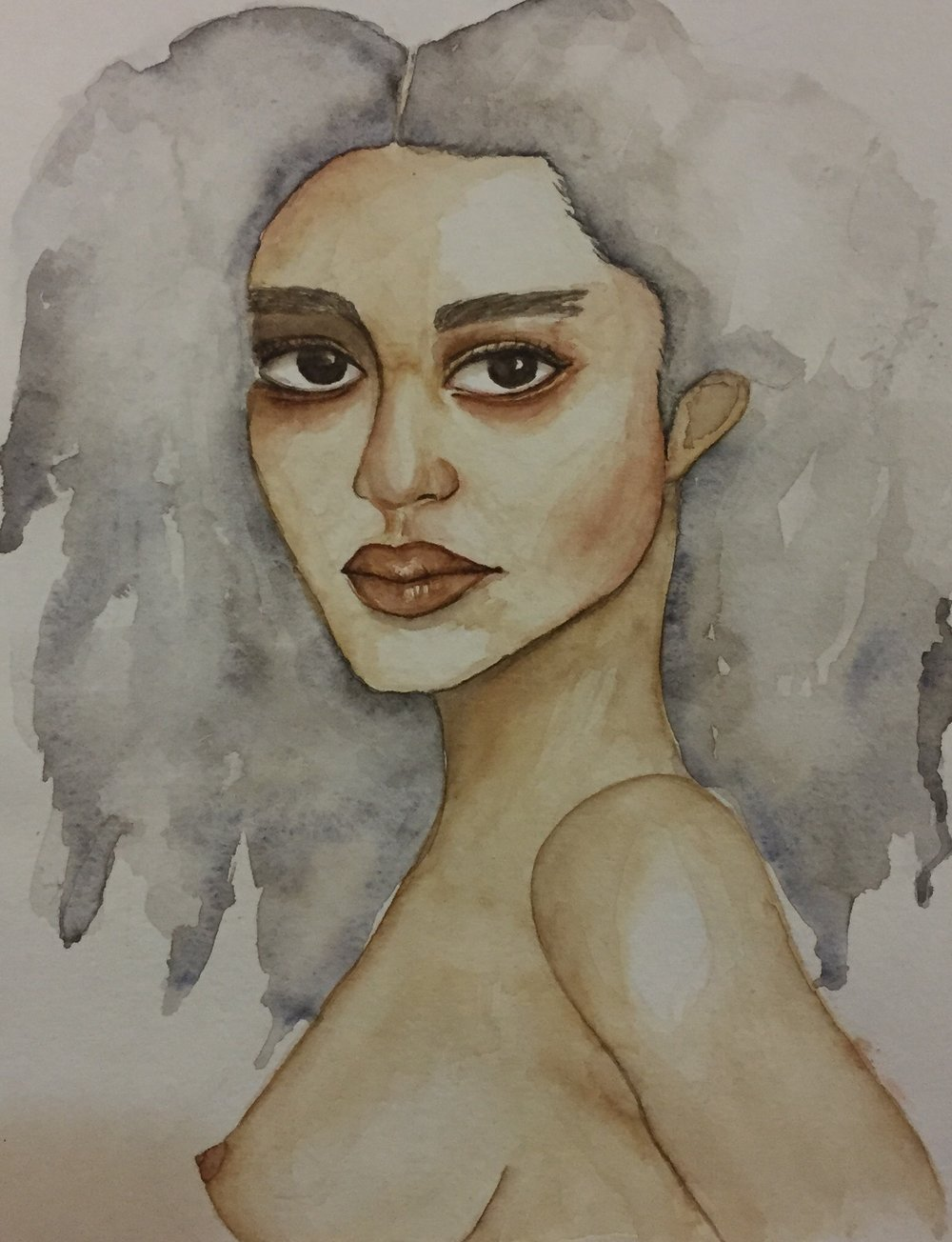 """Mother"" Watercolor"