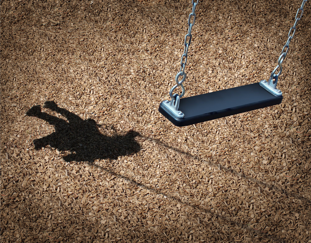 swing with shadow