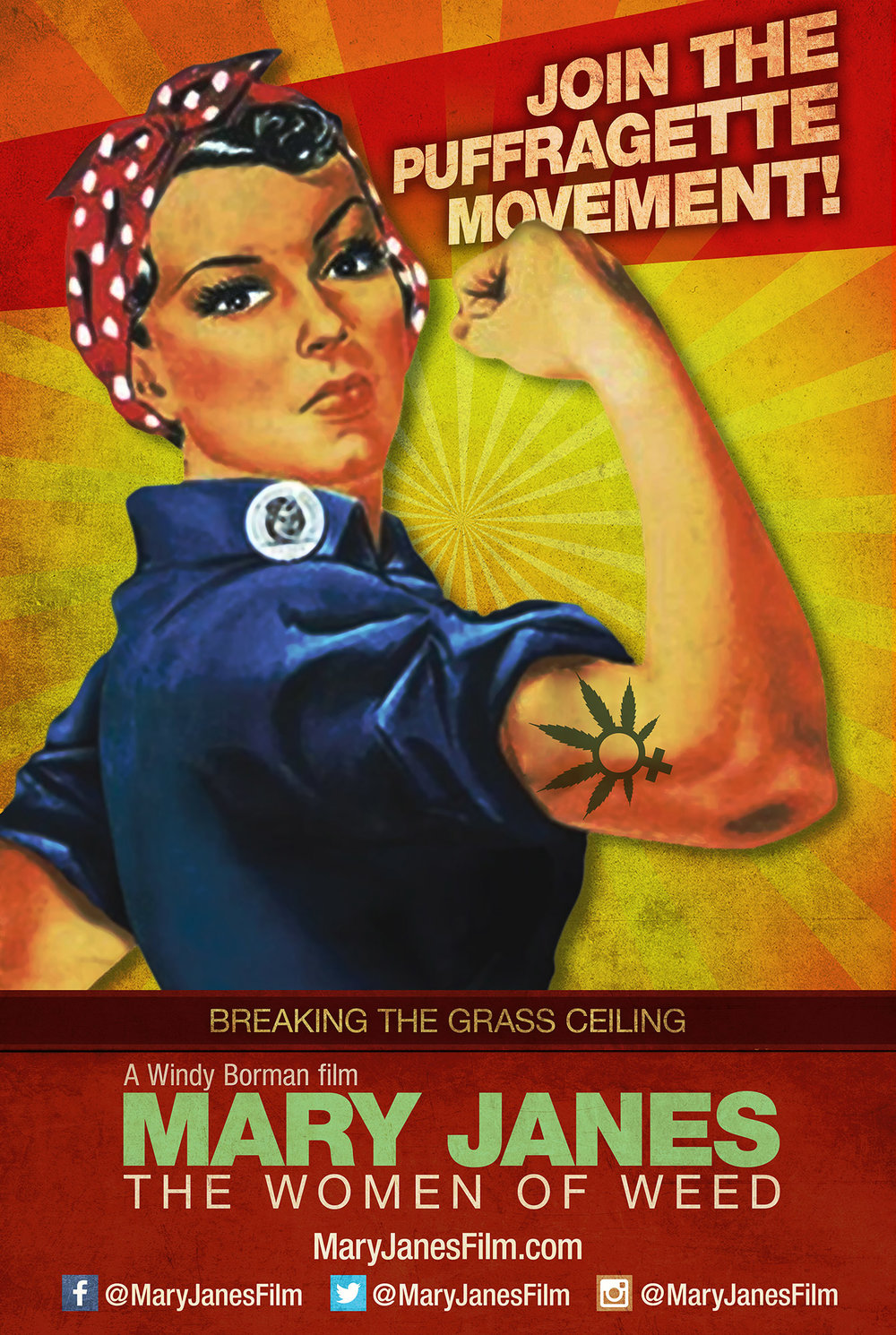 MARY JANES WOMEN OF WEED POSTER