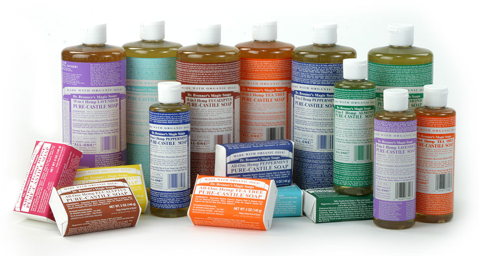 Dr. Bronner's Pure Castile Soaps are amazing.   Check them out!  https://www.drbronner.com/