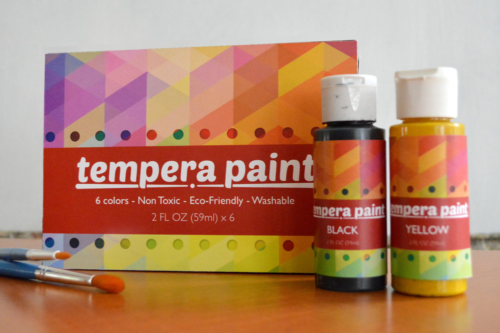 Tempera Paint Packaging