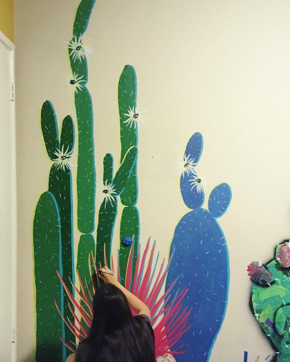 Painting Nopales