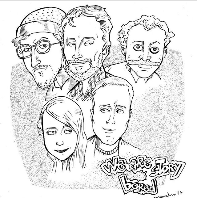 You guys! This amazing illustrator from Brazil just did these awesome drawings of the PA's crew. We love them! Thank you, @marcelinoarte! #art #drawing #wearestorybored