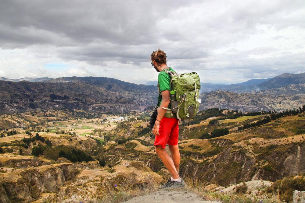 Viewpoint Quilotoa Loop Ecuador Hiking South America