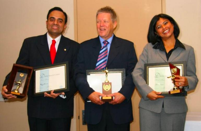 L-R: Royston Fernandes, Bill Stuth, Juliana Jamal