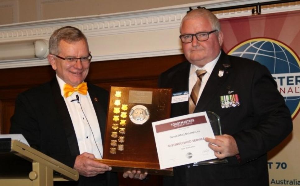 Area Director of the Year -  Darrell (Mac) McLeod, Area S30