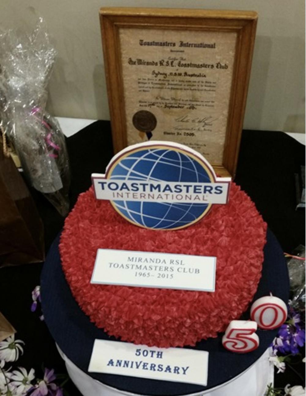 Miranda RSL Toastmasters 50th Anniversary - September 2015