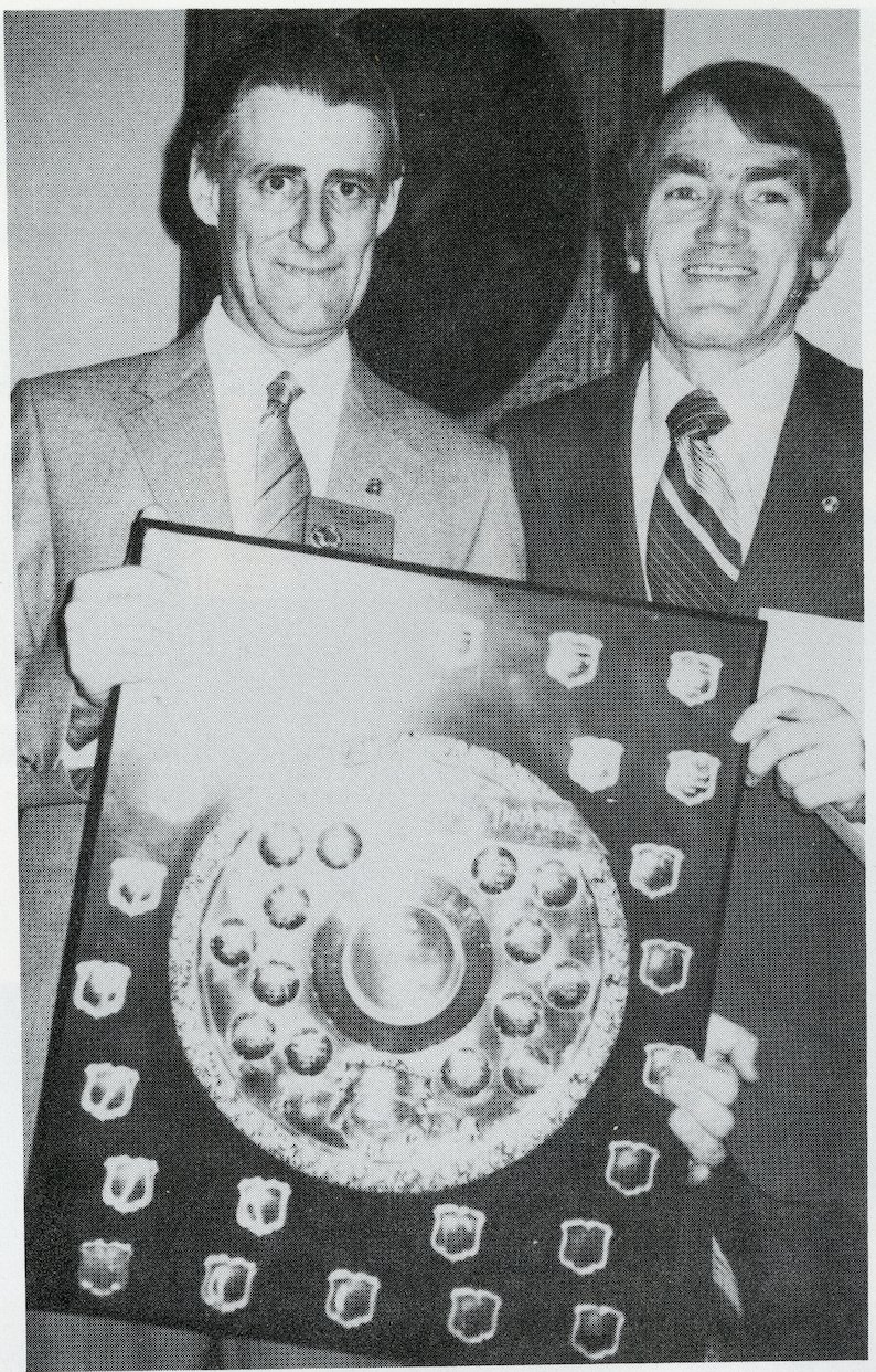 L-R: District Governor Gary Wilson with Ron Gellatley