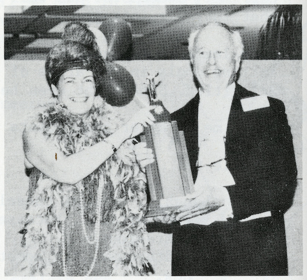 L-R: Elizabeth Wilson with Garnet Meekings