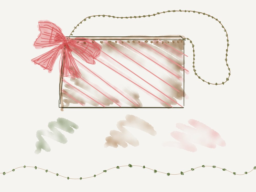 I drew the bag design on an app called Paper 23.  The colour combination I wanted to use was primarily light, neutral brown and dusty pink with possibly a hint of earthy green.