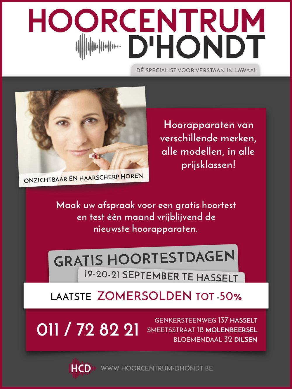 HCD Hoortestdagen September 2017