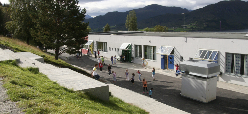 Åfarnes Skole - trappeamfi utsikt