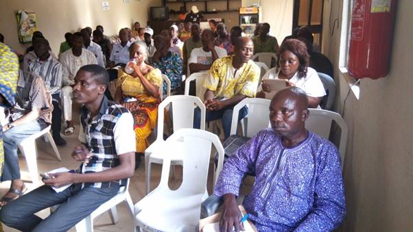 Cross section of Farmers at the AwF (UK), Nigeria meeting.