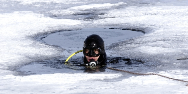Ice Diving  - Image may be subject to copywrite