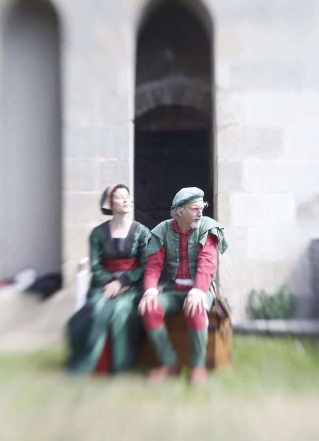 Actors at Château de Langeais