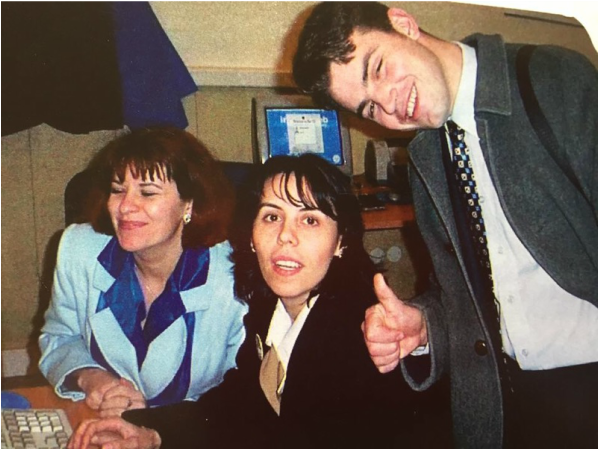 Monica Secosan, Adela Dinu and Sile Moldovan in 2000, APoWeR team (left to right)