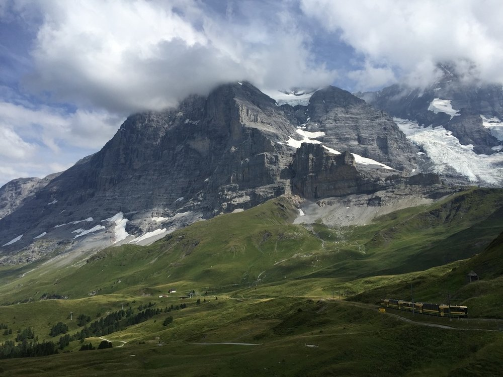 Eiger and Jungfrau Mountains in full splendor