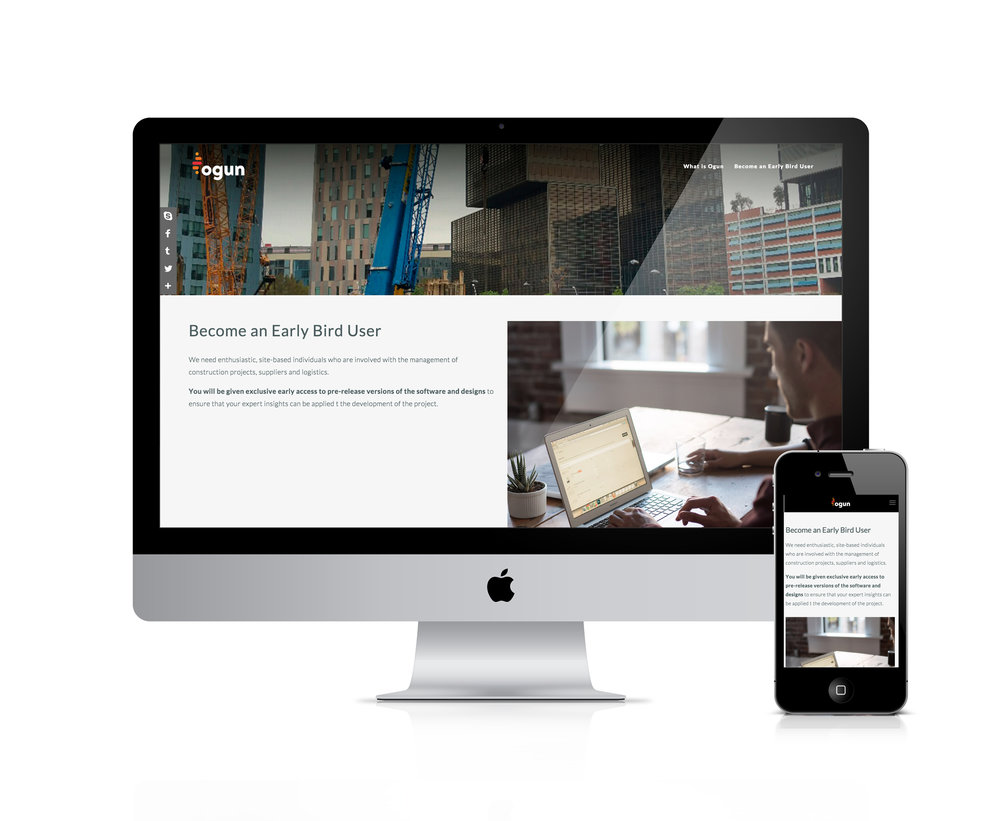 landing page in squarespace