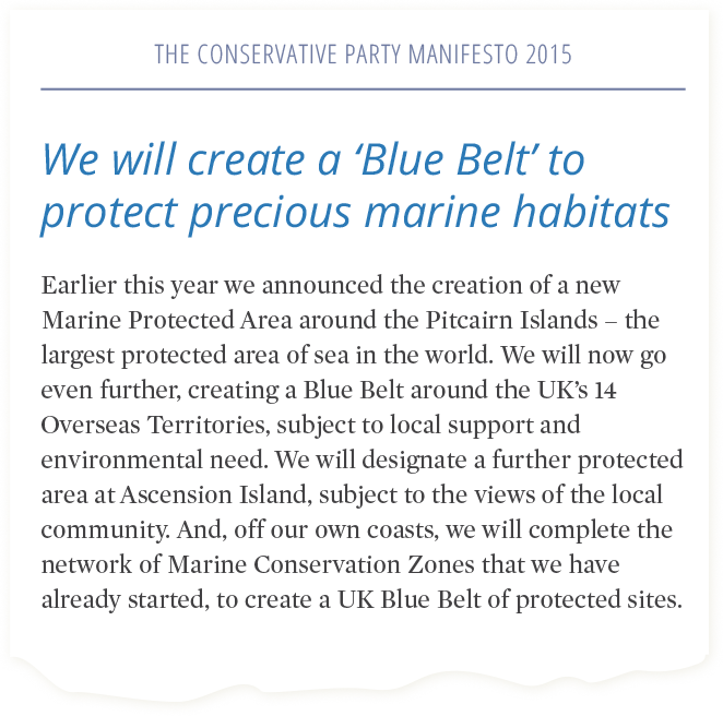 Common Seas' recommendations were included in the Conservative Party Manifesto.