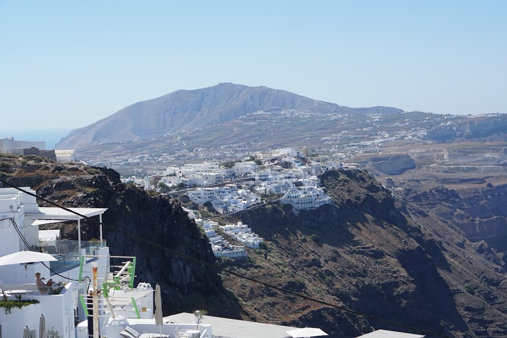 Once you get up above the villages of Fira, Firostefani, and Imeroviglia, look back for this view.