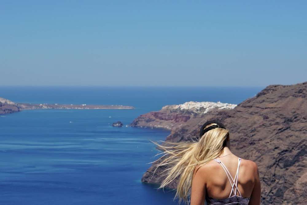 Oia is in the distance.