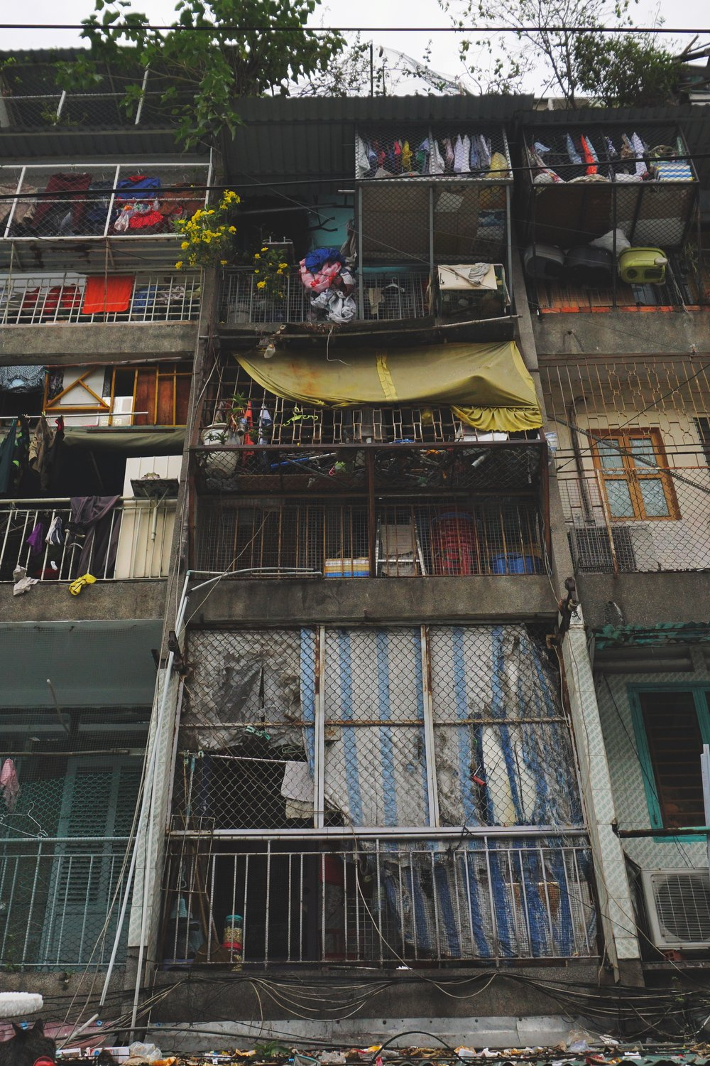 Saigon's distinctive tube houses.