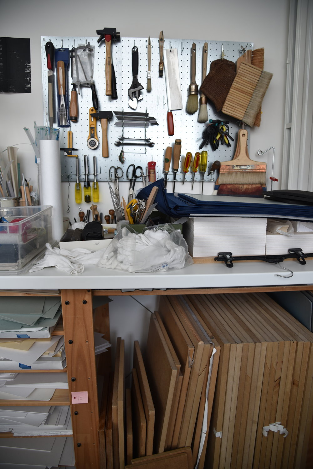 Laurel Parker bookbinding studio