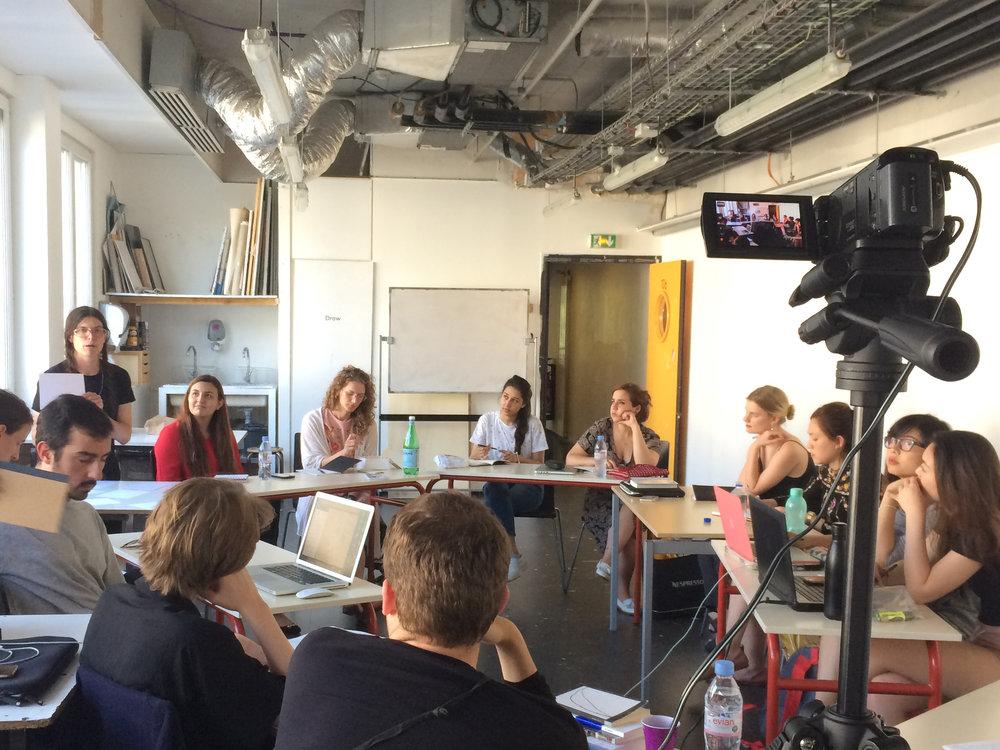Writing Workshop with Kristen Kreider   — photo by Caroline Rabourdin