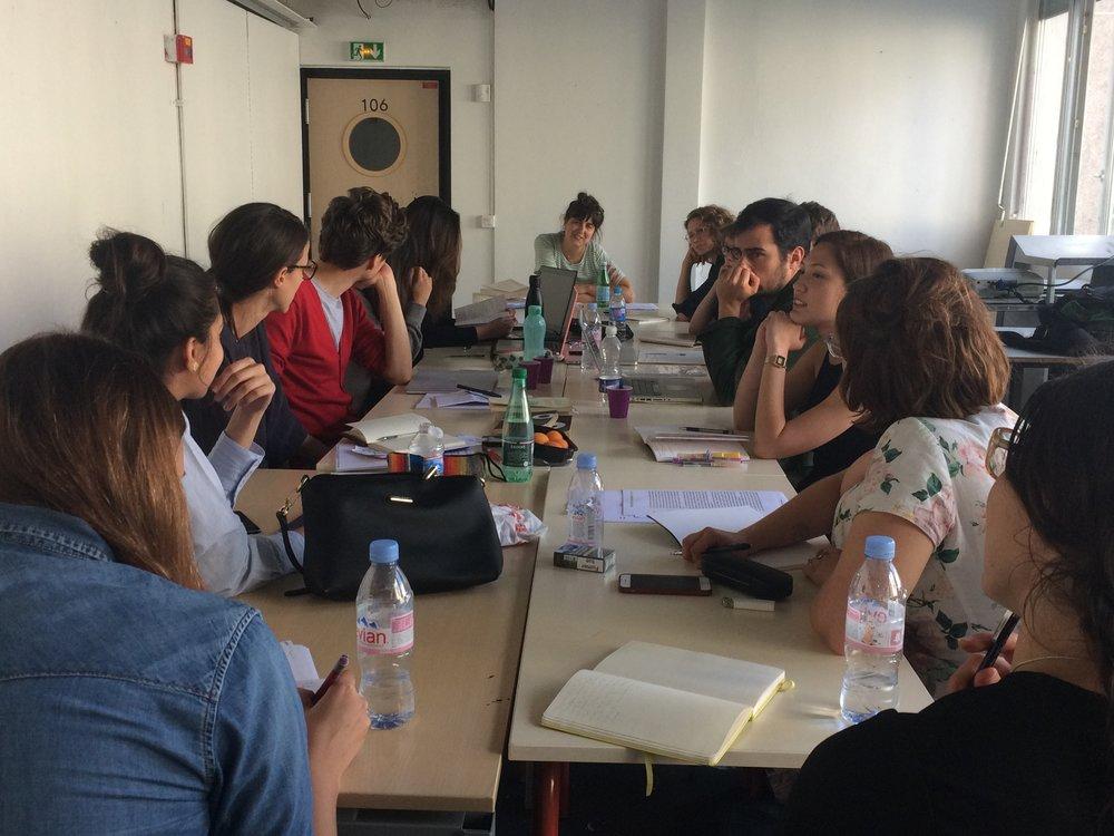 Seminar with Kate Briggs  — photo by Caroline Rabourdin