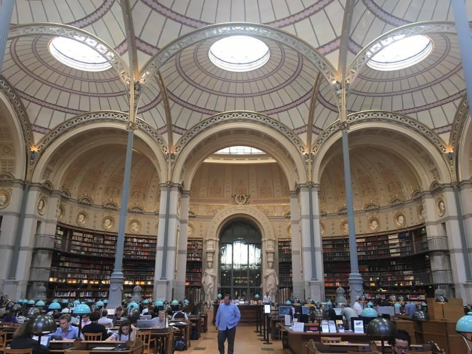 Salle Labrouste, Bibliothèque Richelieu  — photo by Sabrina Tan