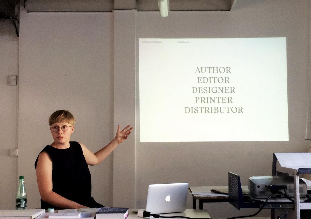 Rosa Nussbaum presentation  — photo by Caroline Rabourdin