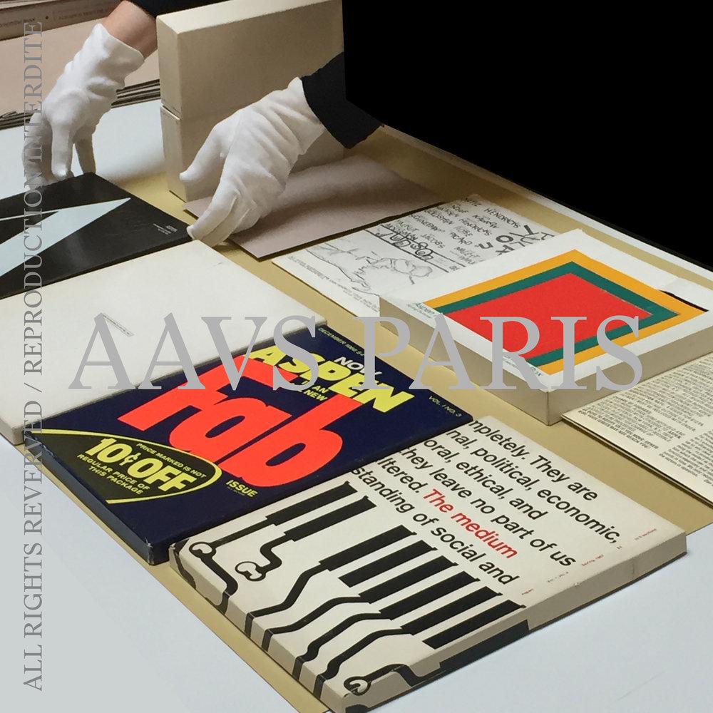 Aspen  magazine, Bibliothèque Richelieu, Estampes Contemporaines et Livres d'Artistes