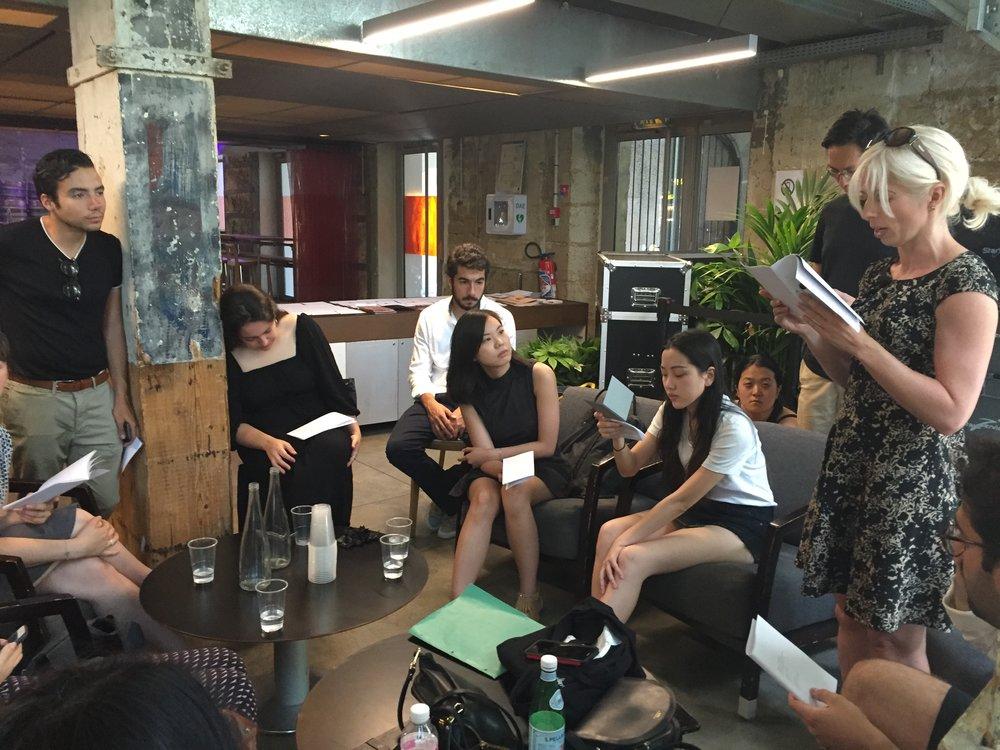 Final Reading at  Café A,  Maison de l'Architecture, Couvent des Récollets.