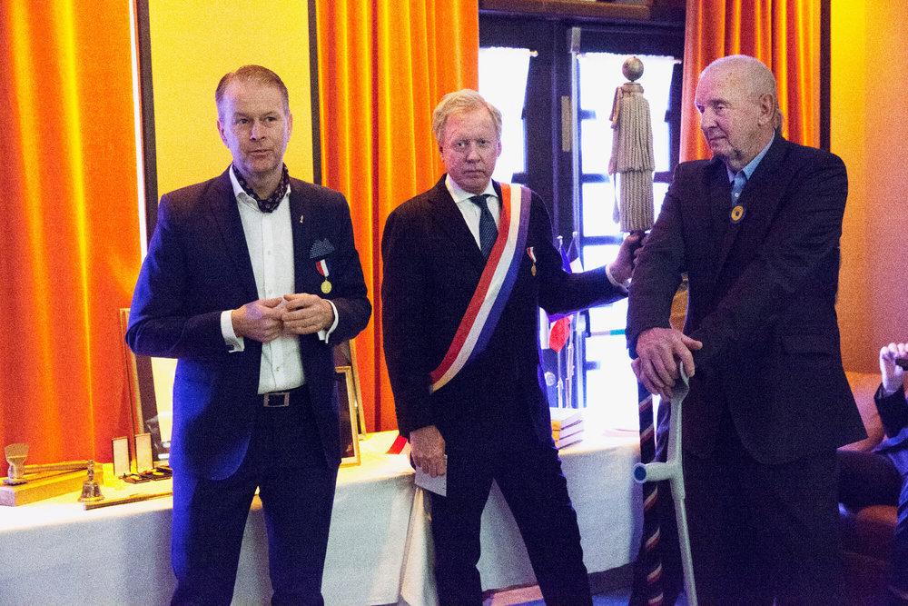 Fredrik Eriksson, Per Nordlind och seniorpristagare Erich Schaumburger