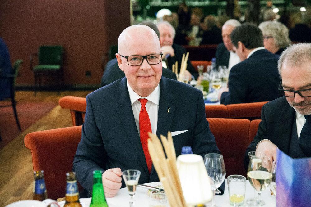 Ständig Ordf Severin Sjöstedt trivdes ovanligt bra här med Leif Olausson Arla Foods