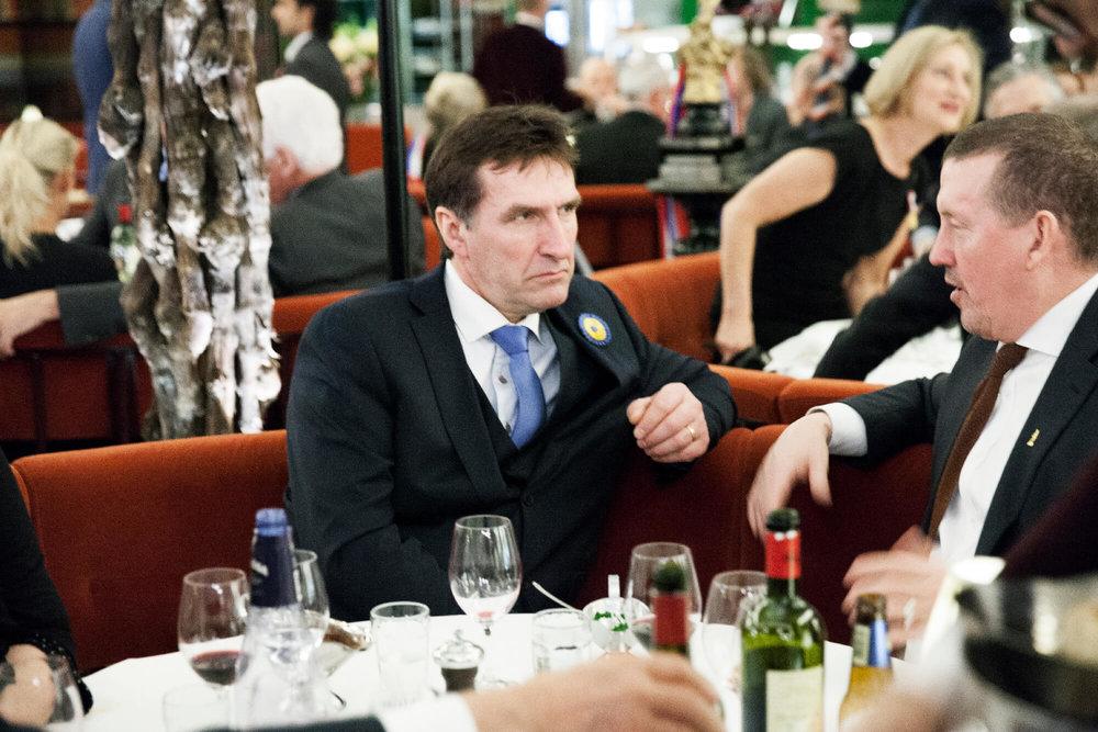 Pristagaren Sven Bertil Westerman och PG Nilsson talade fisk