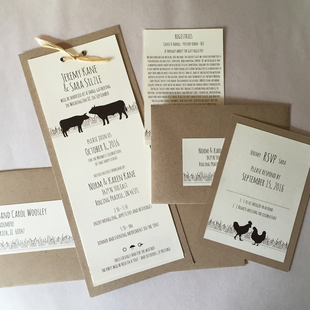 INVITATION: Farm Wedding