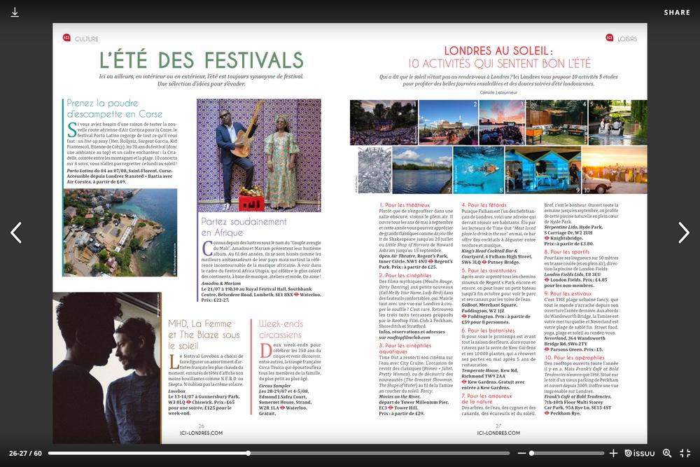 Festival Porto Latino - Magazine Ici Londres été 2018