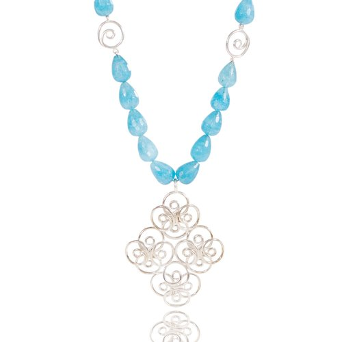 briolette chalcedony beadaholique necklace blue
