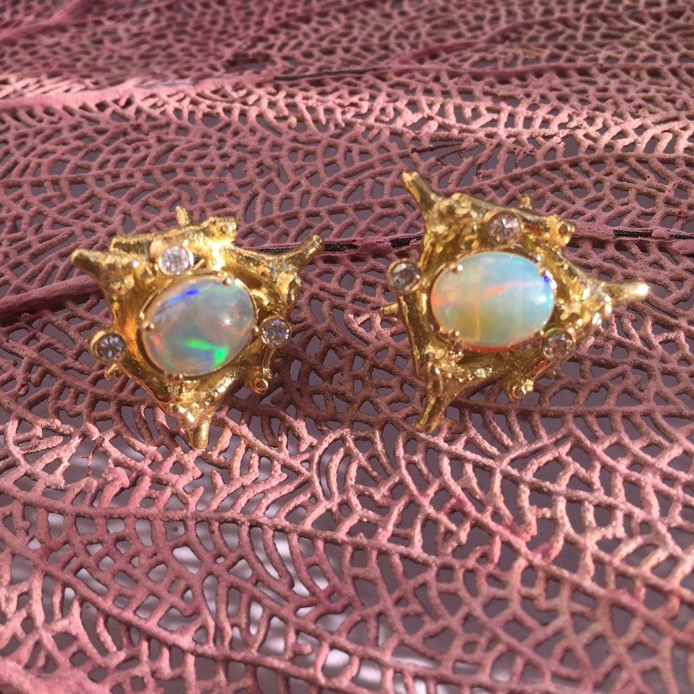 Reef opal earrings